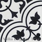 """Tulips B Black and White Morning"" Cement Tile, from Villa Lagoon Tile."