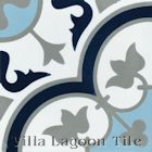 """Tulips B Ice"" Cement Tile from Villa Lagoon Tile"