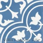 """Tulips B Royal"" Cement Tile from Villa Lagoon Tile"