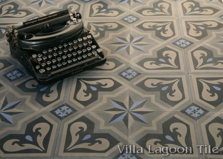 Valencia cement tile, from Villa Lagoon Tile.