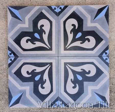 Valencia cement tile, by Villa Lagoon Tile.