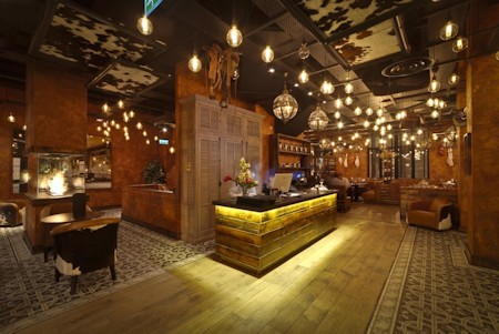 Fazenda Rodizio Bar and Grill, Liverpool, England. Cement tile by Villa Lagoon Tile.