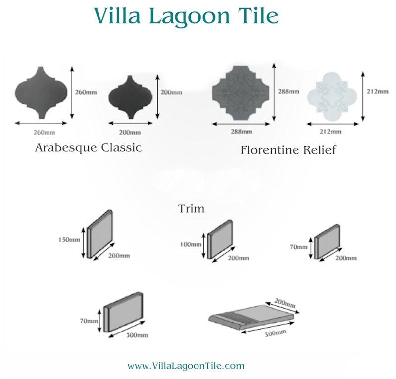 Villa Lagoon Tile Arabesque Clic And Floine Shapes