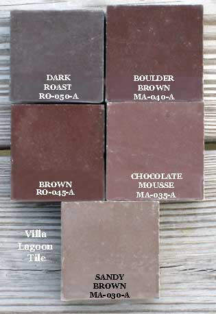 brown cement tiles tinted concrete tiles