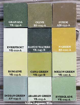 cement tile greens colors