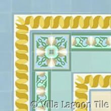 Glory of the Sea Cement Tile Floor Design