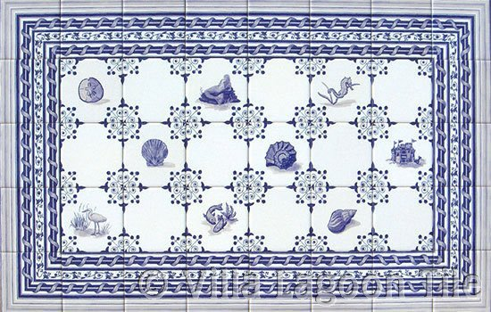 Dutch tile in blue and white