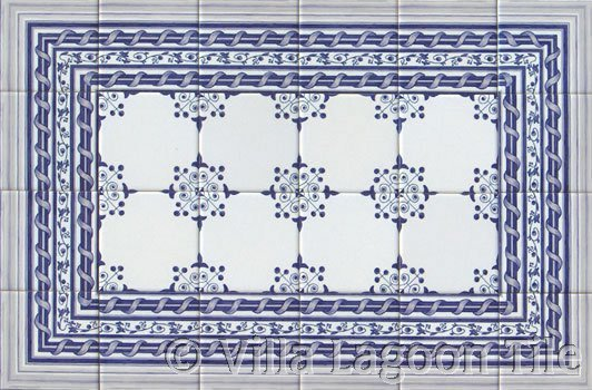 Delft tile kitchen backsplash design idea