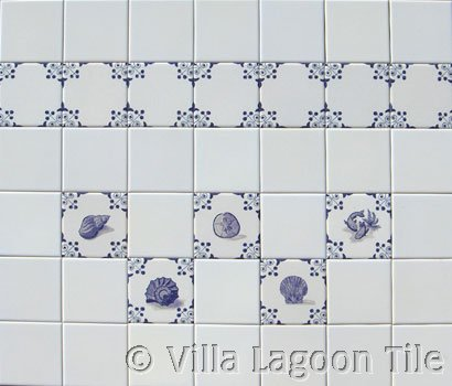 Dutch style tiles for kitchen and bath