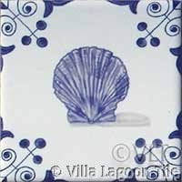 Scallop shell tile for nautical decor