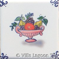 dutch tile with fruit