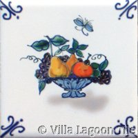 delft type tile with fruit basket
