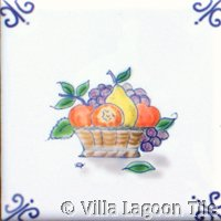hand painted delft style tile