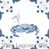tile with Crab on it