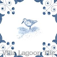 tile with Sandpiper on it