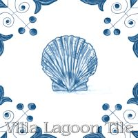 tile with Scallop on it