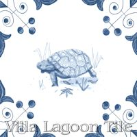 tile with Tortoise on it