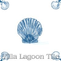 Delft sea shell tile