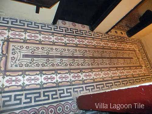Antique Egyptian Cement Tile Villa Lagoon Tile