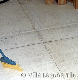 Floor tile center lines for layout
