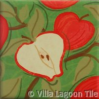 Apple fruit ceramic tile