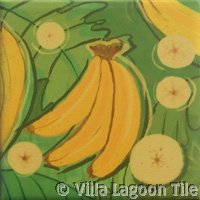 Banana fruit tile