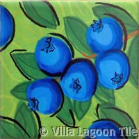 Blueberry fruit deco  tile