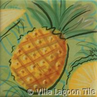 Pineapple fruit ceramic tile