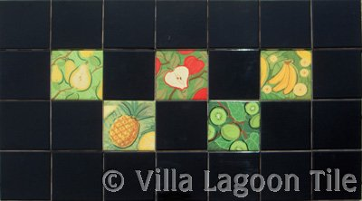 Ceramic fruit tiles