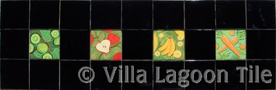 Fruit border tiles ceramic