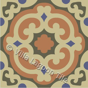 Cuban tile in tradistional patterns