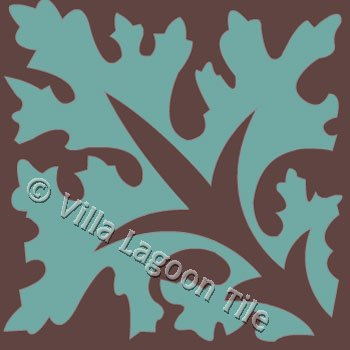 Palma leaf pattern tile