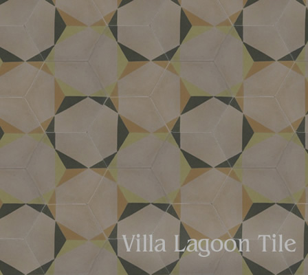 rosen pattern hexagonal cement tile hex