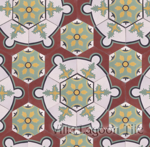 Medaliam hexagonal cement tile