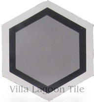 hexagonal cement tile floor