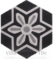 Margarite hex cement floor tile