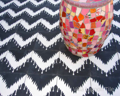 Ikat cement tile patterns