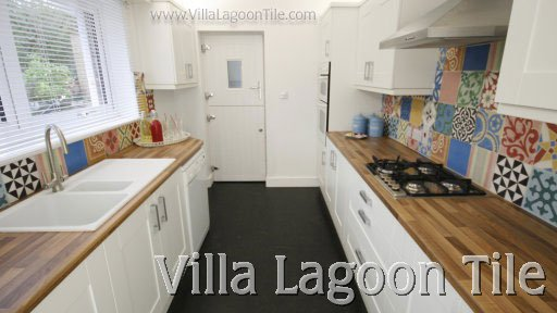 Cement Tile Backsplashes | Villa Lagoon Tile