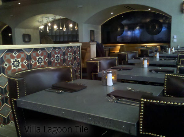 Cement tile in Javis Restaurant in Santa Monica