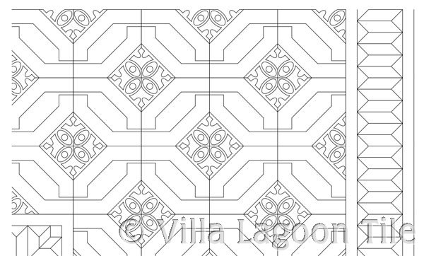 Layout of cement tile in retail store