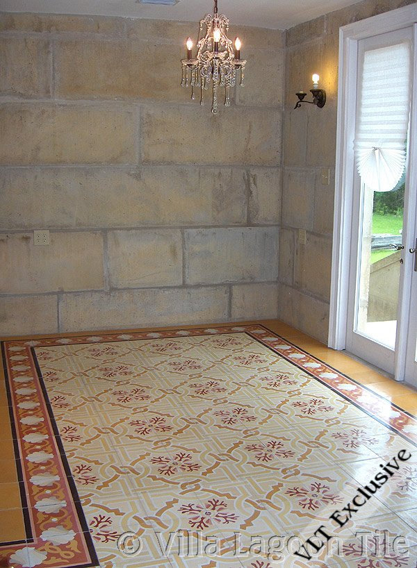 Quot Shell Scroll Border Quot Cement Tiles Villa Lagoon Tile