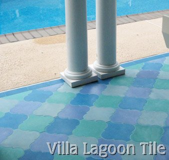 Moroccan Arabesque Shaped Cement Tiles Villa Lagoon Tile