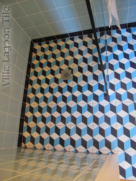 Cubes cement tile installation
