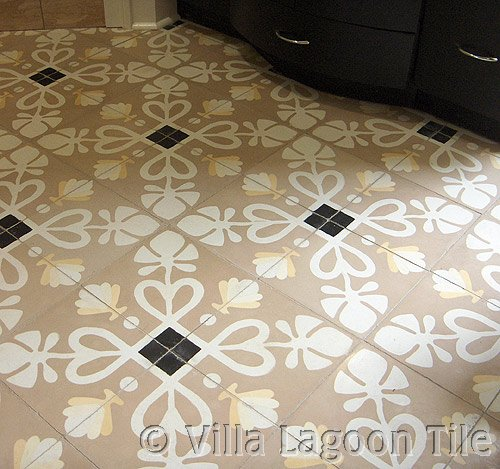 Cement tile batthroom tile floor