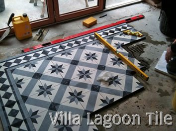 Cement tile installing in London