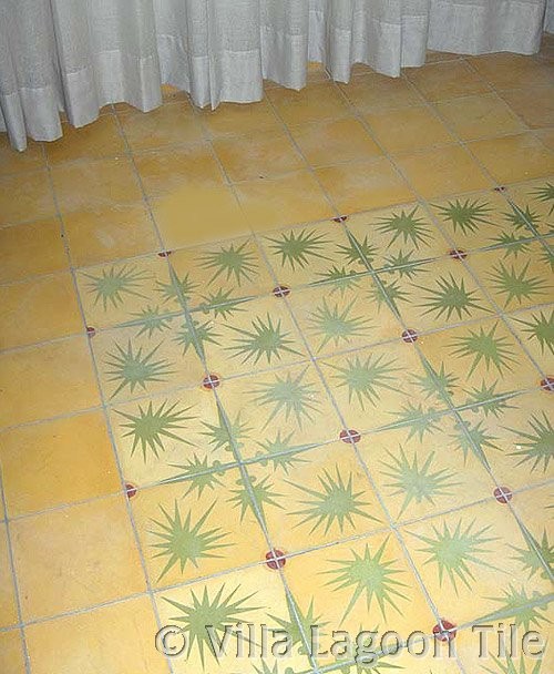 Artist designed custom cement tile