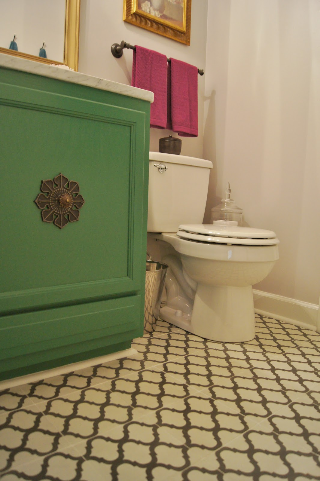 Moorish tile design bathroom floor