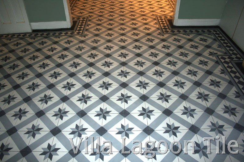 Uk london cement tile installations villa lagoon tile for Floor cement tiles