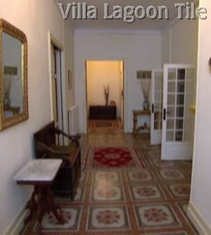 French pattern floor tile entrance