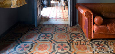 Italian cement and marble dust tiles